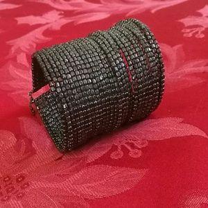 Bracelet cuff. Goth vintage 20s look.